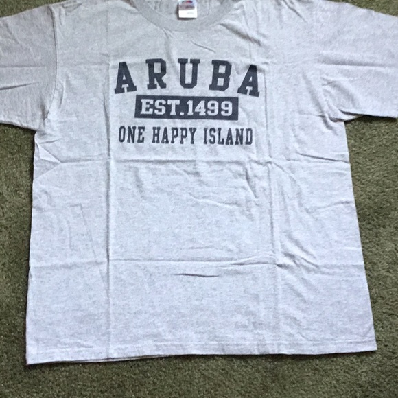 Fruit of the Loom Other - NWOT MENS TEE SHIRT SZL GRAY FROM ARUBA